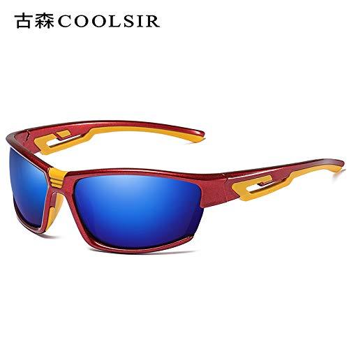 polarizadas nbsp;Moto Arena Gafas de sunglasses Gafas Colorido Red nbsp;Deportes nbsp; Caja a nbsp;Marco roja Mjia Hombre Sol nbsp;Prueba de 1 de Espejo frame Gafas Negro Deportivas Uq0W65w