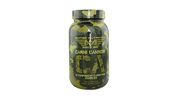 Amazon.com: Scitec Nutrition Muscle Army Carni Cannon 60 Capsules: Health & Personal Care