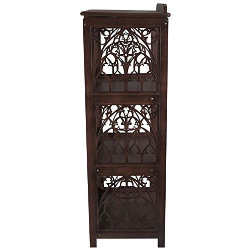 Design Toscano St. Thomas Aquinas Gothic Decor Wooden Bookstand Library Display Stand, 43 Inch, Hardwood, Walnut Finish