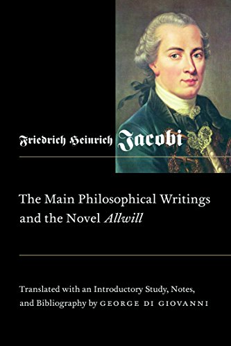 Main Philosophical Writings and the Novel Allwill (Mcgill-queen's Studies in the History of Ideas)