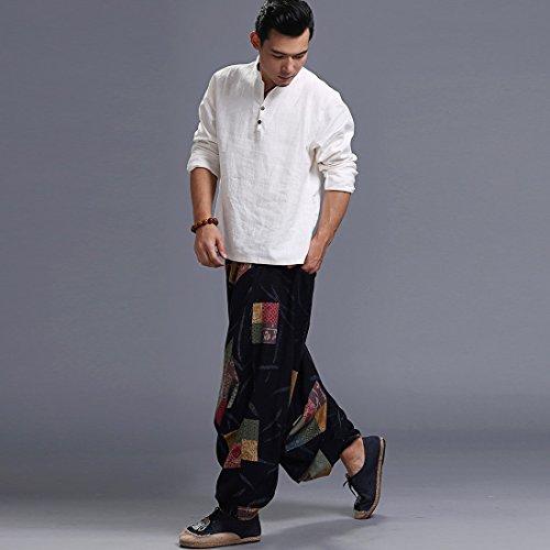 los yoga m moichien hombres Harem pantalones Ai sueltos Los de grande el imprimen qwU616Xv