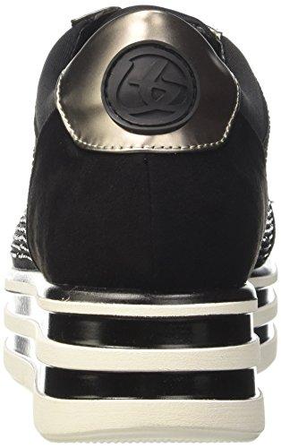 LIU JO - Botín negro de cuero, con cierre de cremallera lateral, hebilla decorativa, Niña, Niñas