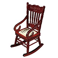1:12 Dollhouse Miniature Furniture Wooden White Dining Table Chair Model Set Feature: Good for 1:12 doll houseThis miniature rocking chair is vividly designed with rope seat, looking really cute. Every little girl has a great interest in play...