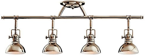 Kichler 7704PN Rail Light 4-Light Halogen, Polished - Light Halogen 4 Swivel