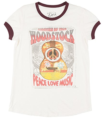 Apparel Zoo Basics Woodstock Summer of 1969 Womens T-Shirt in Cream