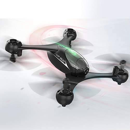 KF600 RC Drone 2.4G 4CH WiFi 720P HD Camera FPV Real-time Transmission Altitude Hold Optical Flow Positioning RC Quadcopter – Headless Mode|3D Flip (Black) for Flying Enthusiast Best Gift