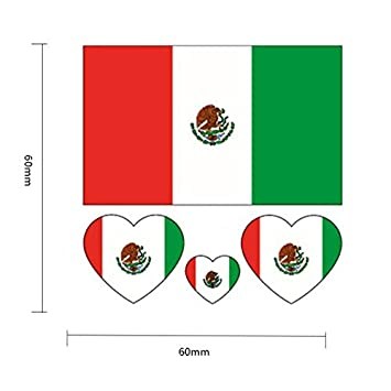adafddc82 World Cup 2018 Top 32 Nations Small Body Face Sticker Nation Flag Temporary  Tattoo Stickers Mexico