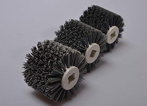 HeroStore 1pc 12010019mm Abrasives Wire Drawing Wheel Dupont Drum Wheel Brush for Wooden Furniture polishing