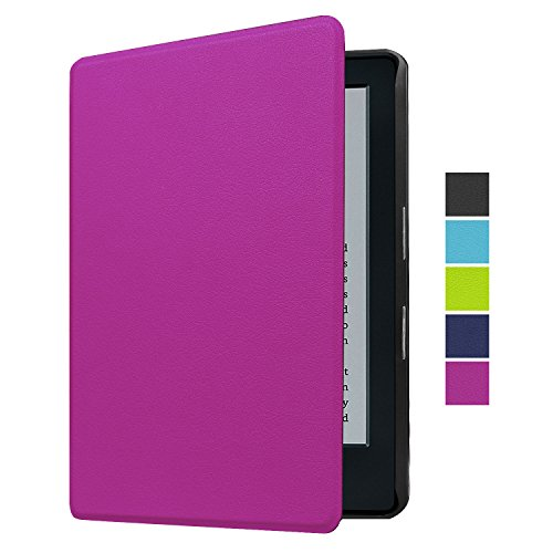 "NEWSTYLE Case for Kindle 8th Gen, The Thinnest and Lightest PU Leather Smart Cover With Auto Wake/Sleep for All-New Kindle E-reader 6"" Display (8th Generation, 2016) - Purple"
