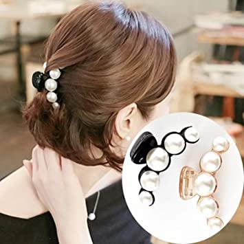 b26175348d422 Amazon.com : Korea elegant hair accessories hair clips hair caught in the  number of adult headdress large pearl hairpin hairpin gripper for women  girl lady ...