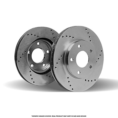 (Front Rotors) 2 HD SPEC Cross Drilled Brake -