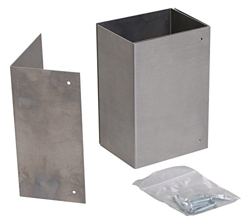 4x6 Rust-free, Adjustable Trimmer Guard for Mailbox Post Protection