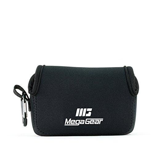 MegaGear Panasonic Lumix DC-ZS200, TZ200, Leica C-Lux Ultra Light Neoprene Camera Case, with Carabiner – Black