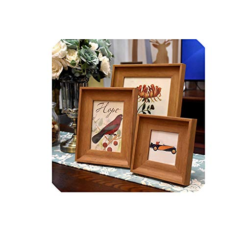- European Style Elegance Solid Desktop Photo Frames for Dresser Home Decor Table Picture Frame Gift for Wedding Party Marco foto,Nut-Brown,10 inch