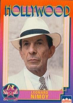 (Leonard Nimoy trading card (Star Trek Spock In Search Of) 1991 Hollywood Walk Fame #8)
