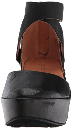 Gentle Souls Women's Nyssa Wedge with Elastic Ankle Straps Platform Black outlet brand new unisex cheap sale eastbay buy online with paypal cheap largest supplier find great G9AU5tJCv
