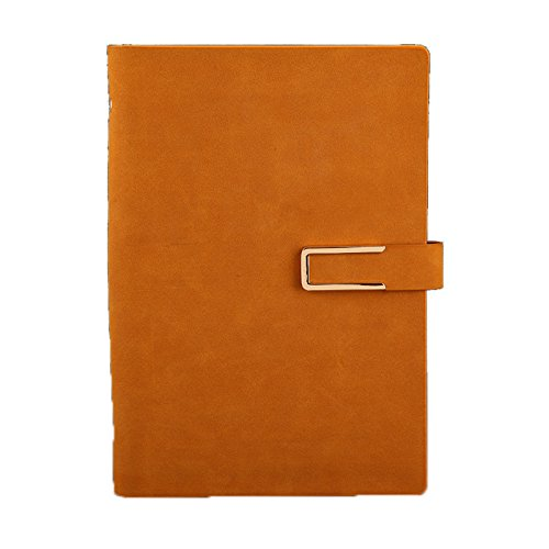 - WSLCN Spiral Bound Notebook A5 Loose-leaf PU Leather Cover Journal Diary Notepad Memo Book Loop Folder Organizer Stationery Calculator Card Slot Orange 233184mm