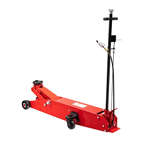 Sunex 6614, Air Hydraulic Floor Jack, 10 Ton Capacity, Two Methods of Operation, Hydraulic Power Unit, 3 Position Handle Lock , Wiper Seals, Rust Prohibition, Rear Kick Plate, Easy Maneuverability, Heavy Gauge Steel Side Plate, Bypass and Overload Valves,