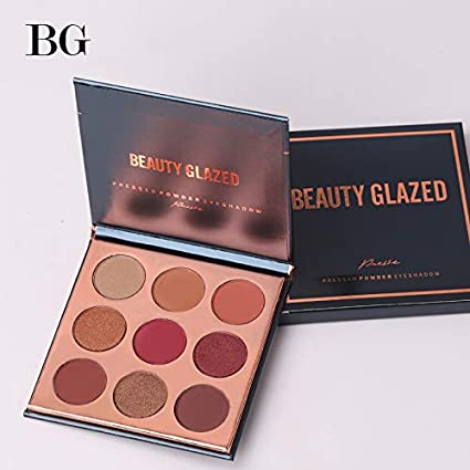 BEAUTY GLAZED 15 Colors Eye Shadow Palette Pressed Highlighter Powder Make Up Sunset Glitter Eyeshadow Pallete Cosmetics Makeup