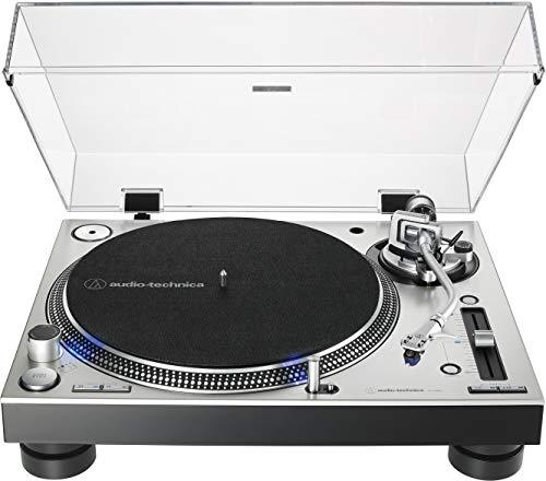 Audio-Technica AT-LP140XP-SV Direct-Drive Professional DJ Turntable, Silver (Best Dj Cartridge 2019)