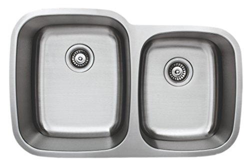 Wells Sinkware CMU3221-97-1 Craftsmen Series Stainless Steel Kitchen Sink Package, 32