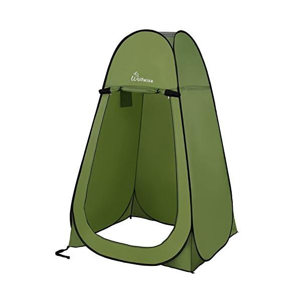 WolfWise Tenda ad Apertura Istantanea Pop-Up Campeggio Spiaggia Bagno Spogliatoio Doccia Riparo Privato all'Aperto 1 spesavip