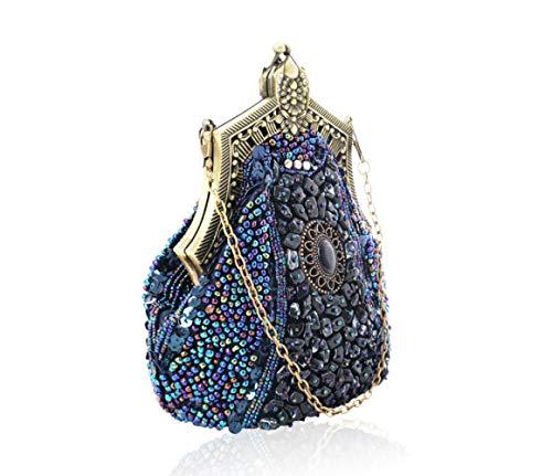 Señoras Bolso Oscuro Novias Pequeños cm Diagonal Wjp azul Bolsos Cheongsam Noche Azul Para Cadena En De Oscuro Hombro Banquetes Mano dp1qxa1Ow