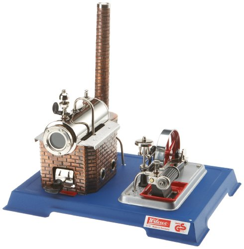 - Wilesco 10 steam engine D10, 155 ml boiler contents, including safety valve and whistle-pipe