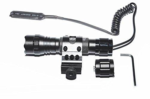 WF-501B Lampe torche tactique LED XM-L T6, 1000 lm, 3,7 V-18 V, 1 mode lampe de poche avec interrupteur de pression et… 4