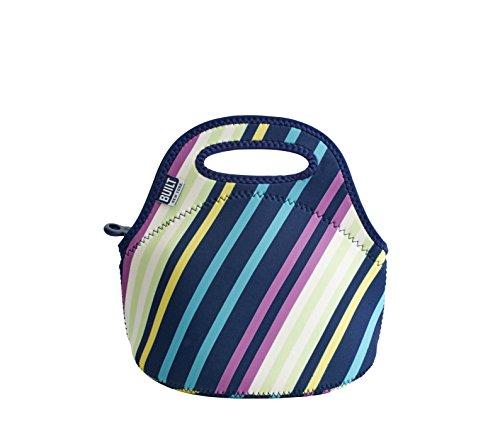 BUILT 5177601 Gourmet Getaway Mini Soft Neoprene Lunch Tote Bag-Lightweight, Insulated and Reusable, Montauk Stripes