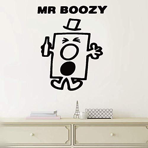 SHGYFE Wall Decor Stickers for Living Room Personalized Name Mr Boozy Wall Sticker for Living Room Bedroom Nursery Kids Bedroom