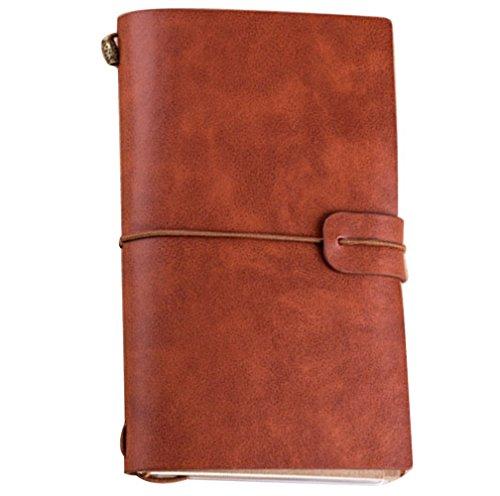 Notebook Vintage Journal Diary Leather Unlined Travel Sketchbook DIY Album Gift -