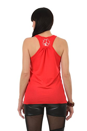 Top Sweatshirt sin mangas Elf Camiseta Peaceful para 3elfen rojo Elderly Peace Peace mujer wwvz1Yq