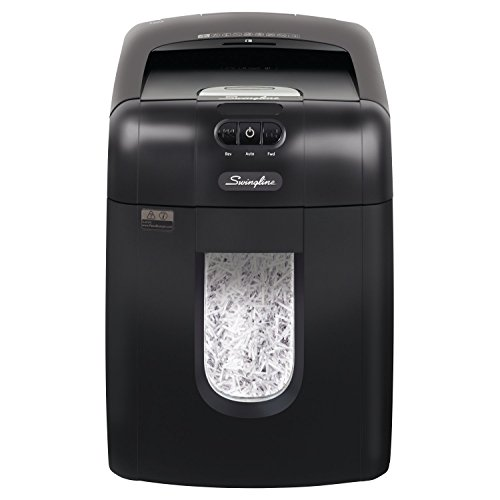 (Swingline Paper Shredder, Auto Feed, 130 Sheet Capacity, Super Cross-Cut, 1-2 Users, Stack-and-Shred 130X (1757571))