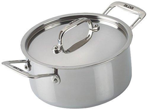 Alda Stainless Steel Solid Cook   Serve Casserole   3L, Metallic Serving Casseroles   Tureens