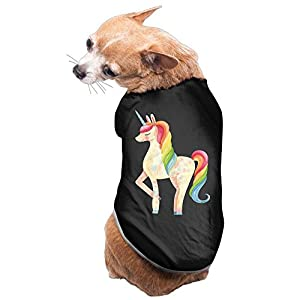 WUGOU Dog Cat Pet Shirt Clothes Puppy Vest Soft Thin Unicorn Rainbow 3 Sizes 4 Colors Available