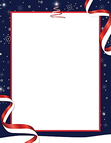 "Great Papers! Patriotic Holiday Letterhead, 80 count, 11"" x 8.5"" (2015058)"
