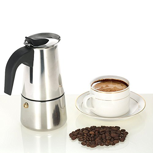 Decdeal Stainless Steel Espresso Percolator Coffee Stovetop Maker Mocha Pot for Use on Gas or Electric Stove by Decdeal (Image #1)'