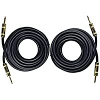 Ignite Pro 2x 1/4 to 1/4 25 Ft. True 12 Gauge Wire AWG DJ/ Pro Audio Speaker Cable, Pair