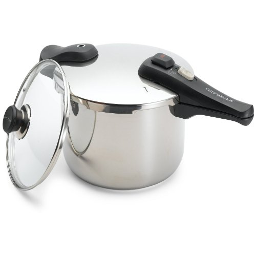 Chef's Design 10-7/8-Quart Stainless Steel Pressure Cooker