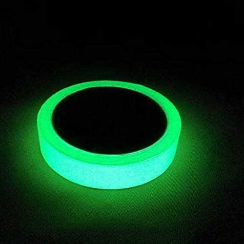 Glow in The Dark Fluorescent Tape 33ft x 0.8 in Luminous photoluminescent Markers for Stairs, Walls, Steps, exit Sign. Glowing pro Theatre Stage Floor Premium Quality Non-Toxic