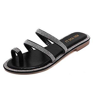 5 Talón US5 5 Negro CN35 Zormey EU36 Mujer UK3 Zapatillas De Zapatillas Zapatos Plata Casual Plano qtPSfHB