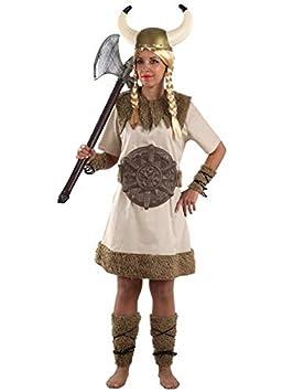 DISBACANAL Disfraz de vikinga Bruta para Mujer - Único, M ...