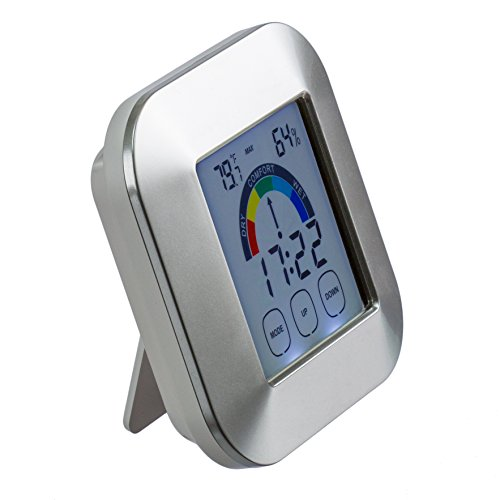 Venu Joy Touchscreen Humidity Monitor With Alarm Clock And Temperature Monitor