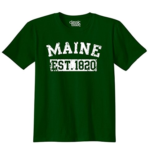 Maine State Printed Adult T-Shirt