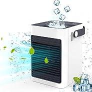 IOQSOF Enfriador, Mini Ventilador portátil sin Ruido Personal humidificador de Aire evaporativo para el hogar,