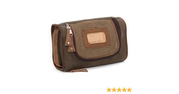 ba046ba59a15 Elkton Toiletry Kit - Waxed Canvas and Leather