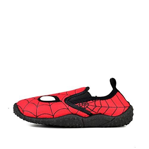 (Spiderman Boy's Slip On Aqua Socks Water Shoes (Toddler/Little Kid))