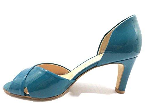 Chaussures Femme GIANCARLO 36 EU Escarpins bleu cuir AX06