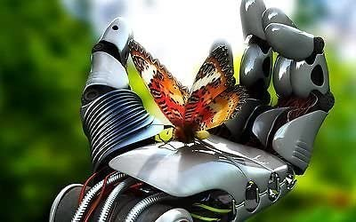 A668 colorido arte abstracto robot de mariposa arte de la pared varios tamaños de lienzo Prints, lona, 12x16inches (A3): Amazon.es: Hogar